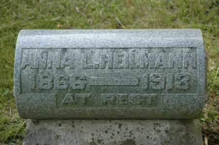 HEILMANN, ANNA L - Meigs County, Ohio | ANNA L HEILMANN - Ohio Gravestone Photos