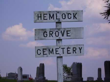 HEMLOCK GROVE, CEMETERY SIGN - VIEW #1 - Meigs County, Ohio   CEMETERY SIGN - VIEW #1 HEMLOCK GROVE - Ohio Gravestone Photos