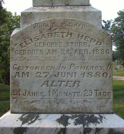 HEPP, ELIZABETH - Meigs County, Ohio   ELIZABETH HEPP - Ohio Gravestone Photos