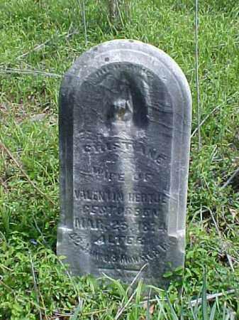 HERTJE, CHRISTINE - Meigs County, Ohio | CHRISTINE HERTJE - Ohio Gravestone Photos
