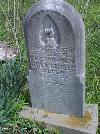 HERTJE, LEONHARD - Meigs County, Ohio   LEONHARD HERTJE - Ohio Gravestone Photos