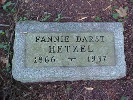 DARST HETZEL, FANNIE - Meigs County, Ohio   FANNIE DARST HETZEL - Ohio Gravestone Photos