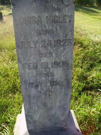 HIGLEY, LOUISA - CLOSE VIEW - Meigs County, Ohio   LOUISA - CLOSE VIEW HIGLEY - Ohio Gravestone Photos