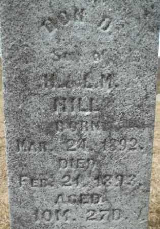 HILL, DON DAVIS - Meigs County, Ohio | DON DAVIS HILL - Ohio Gravestone Photos