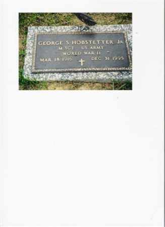 HOBSTETTER, GEORGE SYLVESTER - Meigs County, Ohio | GEORGE SYLVESTER HOBSTETTER - Ohio Gravestone Photos