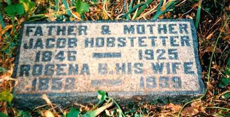 HOBSTETTER, ROSENA B. - Meigs County, Ohio | ROSENA B. HOBSTETTER - Ohio Gravestone Photos