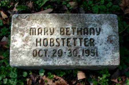 HOBSTETTER, MARY BETHANY - Meigs County, Ohio | MARY BETHANY HOBSTETTER - Ohio Gravestone Photos