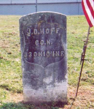 HOFF, J. D. - Meigs County, Ohio   J. D. HOFF - Ohio Gravestone Photos