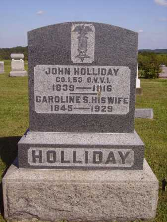 HOLLIDAY, JOHN - Meigs County, Ohio | JOHN HOLLIDAY - Ohio Gravestone Photos