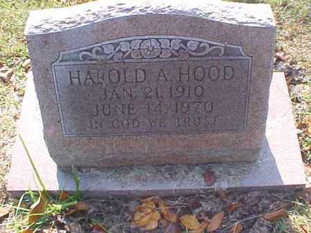 HOOD, HAROLD A. - Meigs County, Ohio | HAROLD A. HOOD - Ohio Gravestone Photos