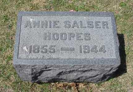 SALSER HOOPES, ANNIE SALSER - Meigs County, Ohio | ANNIE SALSER SALSER HOOPES - Ohio Gravestone Photos