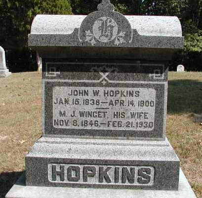 HOPKINS, JOHN W. - Meigs County, Ohio | JOHN W. HOPKINS - Ohio Gravestone Photos