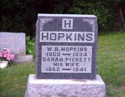 PICKETT HOPKINS, SARAH - Meigs County, Ohio | SARAH PICKETT HOPKINS - Ohio Gravestone Photos