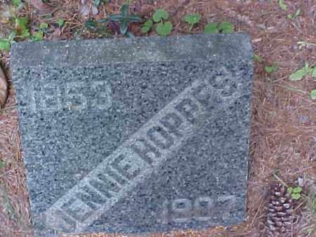 HOPPES, JENNIE - Meigs County, Ohio | JENNIE HOPPES - Ohio Gravestone Photos