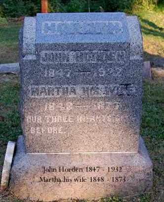 HORDEN, MARTHA - Meigs County, Ohio | MARTHA HORDEN - Ohio Gravestone Photos