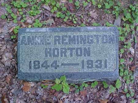 HORTON, ANNIE - Meigs County, Ohio   ANNIE HORTON - Ohio Gravestone Photos