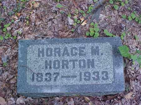 HORTON, HORACE M. - Meigs County, Ohio | HORACE M. HORTON - Ohio Gravestone Photos