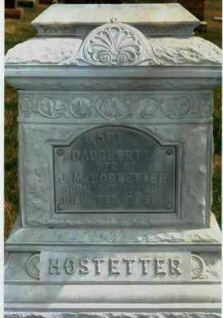 DAUGHERTY HOSTETTER, MARY J. - Meigs County, Ohio | MARY J. DAUGHERTY HOSTETTER - Ohio Gravestone Photos