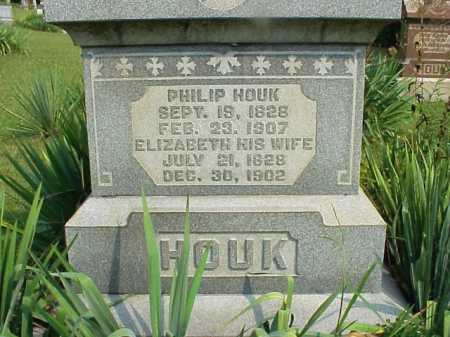 HOUK, ELIZABETH - Meigs County, Ohio | ELIZABETH HOUK - Ohio Gravestone Photos