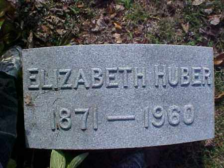 HUBER, ELIZABETH - Meigs County, Ohio | ELIZABETH HUBER - Ohio Gravestone Photos