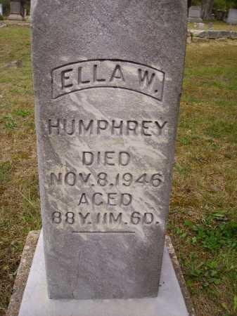 HUMPHREY, ELLA W. - Meigs County, Ohio | ELLA W. HUMPHREY - Ohio Gravestone Photos
