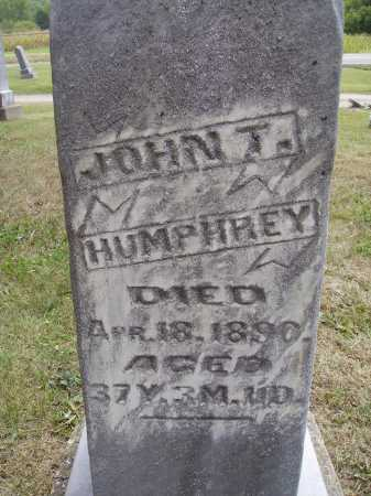 HUMPHREY, JOHN T. - Meigs County, Ohio | JOHN T. HUMPHREY - Ohio Gravestone Photos