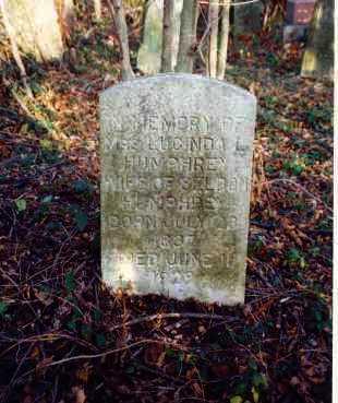 MILLER HUMPHREY, LUCINDA L. - Meigs County, Ohio | LUCINDA L. MILLER HUMPHREY - Ohio Gravestone Photos