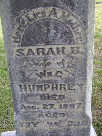 COOK HUMPHREY, SARAH B. - CLOSER VIEW - Meigs County, Ohio | SARAH B. - CLOSER VIEW COOK HUMPHREY - Ohio Gravestone Photos