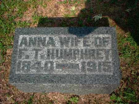 HUMPREY, ANNA - Meigs County, Ohio | ANNA HUMPREY - Ohio Gravestone Photos