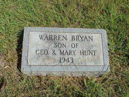 HUNT, WARREN BRYAN - Meigs County, Ohio   WARREN BRYAN HUNT - Ohio Gravestone Photos