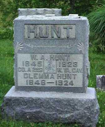 HUNT, W. A. - Meigs County, Ohio | W. A. HUNT - Ohio Gravestone Photos