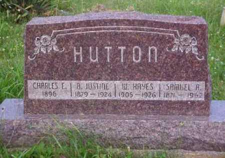 HUTTON, A. JUSTINE - Meigs County, Ohio | A. JUSTINE HUTTON - Ohio Gravestone Photos