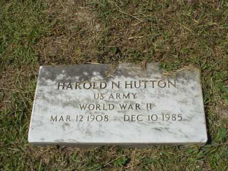 HUTTON, HAROLD N.- MILITARY - Meigs County, Ohio   HAROLD N.- MILITARY HUTTON - Ohio Gravestone Photos