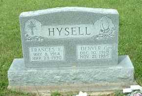HYSELL, FRANCES E. - Meigs County, Ohio | FRANCES E. HYSELL - Ohio Gravestone Photos