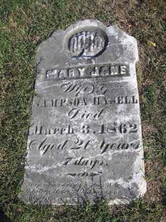 WATKINS HYSELL, MARY JANE - Meigs County, Ohio | MARY JANE WATKINS HYSELL - Ohio Gravestone Photos