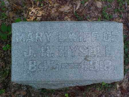 HYSELL, MARY L. - Meigs County, Ohio | MARY L. HYSELL - Ohio Gravestone Photos