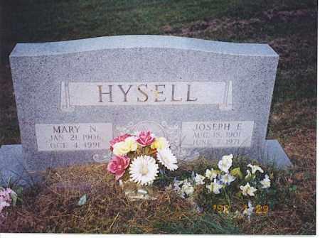 HYSELL, MARY N. - Meigs County, Ohio   MARY N. HYSELL - Ohio Gravestone Photos