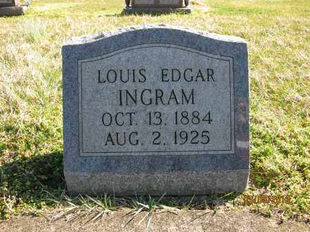 INGRAM, LOUIS EDGAR - Meigs County, Ohio | LOUIS EDGAR INGRAM - Ohio Gravestone Photos