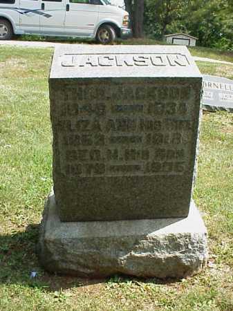 JACKSON, ELIZA ANN - Meigs County, Ohio | ELIZA ANN JACKSON - Ohio Gravestone Photos
