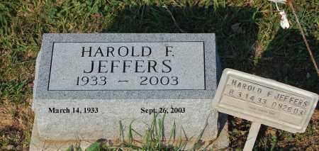 JEFFERS, HAROLD F - Meigs County, Ohio   HAROLD F JEFFERS - Ohio Gravestone Photos