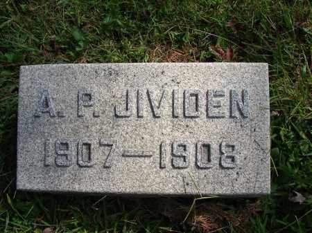 JIVIDEN, A P - Meigs County, Ohio   A P JIVIDEN - Ohio Gravestone Photos