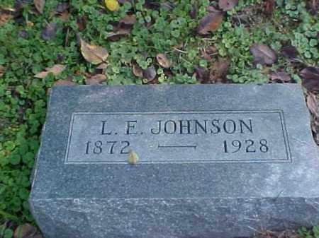 JOHNSON, L. E. - Meigs County, Ohio | L. E. JOHNSON - Ohio Gravestone Photos