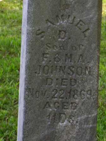 JOHNSON, SAMUEL D. [CLOSE VIEW] - Meigs County, Ohio | SAMUEL D. [CLOSE VIEW] JOHNSON - Ohio Gravestone Photos