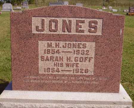 JONES, SARAH H. - Meigs County, Ohio   SARAH H. JONES - Ohio Gravestone Photos