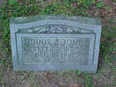 JONES, MINNIE J. - Meigs County, Ohio | MINNIE J. JONES - Ohio Gravestone Photos
