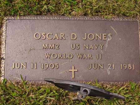 JONES, OSCAR D. - Meigs County, Ohio | OSCAR D. JONES - Ohio Gravestone Photos