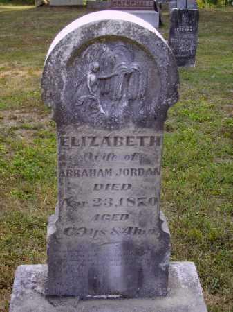 JORDAN, ELIZABETH - Meigs County, Ohio | ELIZABETH JORDAN - Ohio Gravestone Photos