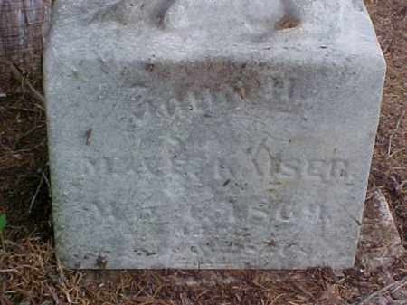 KAISER, JOHN H. - Meigs County, Ohio | JOHN H. KAISER - Ohio Gravestone Photos