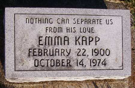 KAPP, EMMA - Meigs County, Ohio | EMMA KAPP - Ohio Gravestone Photos