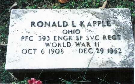 KAPPLE, RONALD L. - Meigs County, Ohio   RONALD L. KAPPLE - Ohio Gravestone Photos